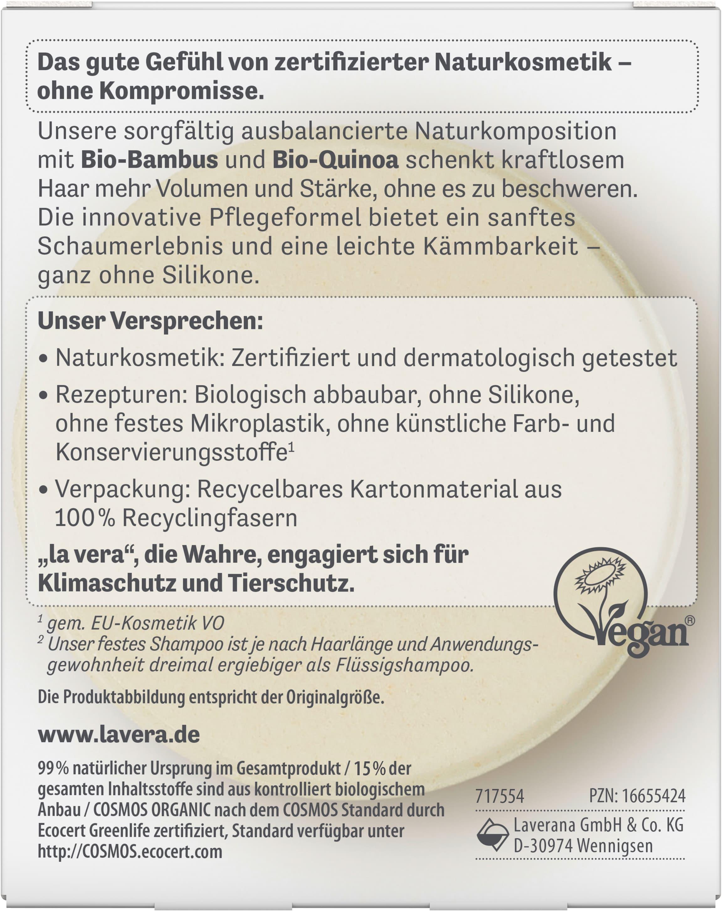 Festes Pflegeshampoo Volumen & Kraft