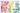 zahlreiche bunte bastelutensilien farblich sortiert auf weißem tisch