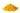 Leuchtend gelbes Pulver auf weißem Hintergrund