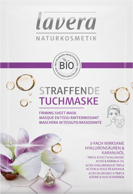 Straffende Tuchmaske
