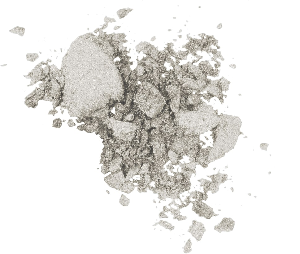 Beautiful Mineral Eyeshadow -Shiny Silver 39-